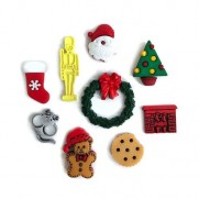 Embellissements Buttons Galore La Nuit avant Noël