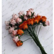 Wild Orchid Craft Fleurs Rosebuds Pêche/Orange