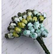 Wild Orchid Craft Fleurs Rosebuds Green Tone