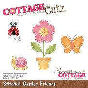 CottageCutz Die Points de Couture Amis du Jardin