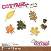 CottageCutz Die Points de Couture Feuilles
