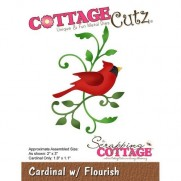 CottageCutz Die Cardinal & Flourish