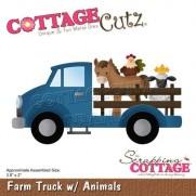 CottageCutz Die Camionnette et animaux de la ferme