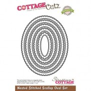 CottageCutz Die Stitched Scallop Oval