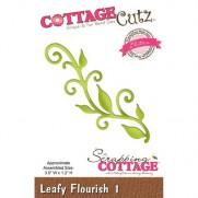 CottageCutz Die Leafy Flourish 1