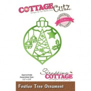 CottageCutz Elites Die Ornement Sapin Festif