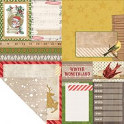 Bo Bunny Papier Christmas Collage Flurry