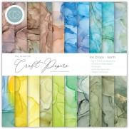 """Craft Consortium Pad 6""""X6"""" Gouttes d'encre - Terre"""