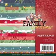"Yvonne Creations Pad 6""X6"" Family Christmas"