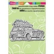 Étampe Stampendous Sapin sur l'auto