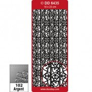 Peel Off Ribbon Lace Mariage Argent