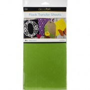 Thermoweb Deco Foil Flock Transfer Sheets Green Envy