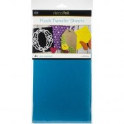 Thermoweb Deco Foil Flock Transfer Sheets Bleu Diamond