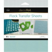 Deco Foil Flock Transfer Sheets Blue Sky