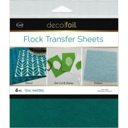 Deco Foil Flock Transfer Sheets Teal Waters