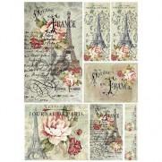 Stamperia Papier de Riz Voyage En France