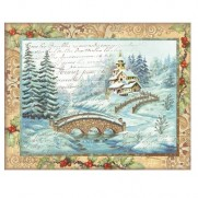 Stamperia Papier de Riz Pont de Noël