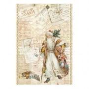 Stamperia Papier de Riz Santa Claus