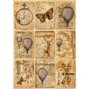 Stamperia Papier de Riz Mixed Media Cartes Postales