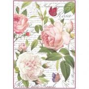 Stamperia Papier de Riz  Roses Vintage