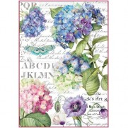 Stamperia Papier de Riz Hortensia & Libellule