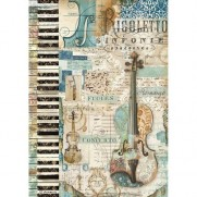 Stamperia Papier de Riz Musique & Violon