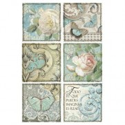 Stamperia Papier de Riz Cartes Azulejos