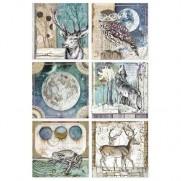Stamperia Papier de Riz Cartes Cosmos