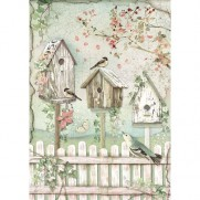 Stamperia Papier de Riz Cabanes d'Oiseaux