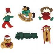 Boutons Jouets de Noël