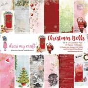 "Dress My Crafts Pad 12"" X 12"" Cloches de Noël"