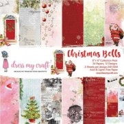 "Dress My Crafts Pad 6"" X 6"" Cloches de Noël"
