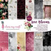 "Dress My Crafts Collection 6""X6"" Fleurs d'Amour"