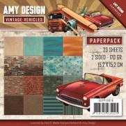 """Amy Design Pad 6""""X6"""" Véhicules vintages"""