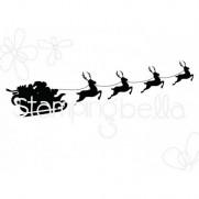 Étampe Stamping Bella Traîneau du Père Noël