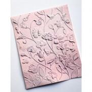 Memory Box Plaque Embossage 3D Pois de Senteur en Fleurs