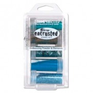 Stampendous Encrusted Jewel Kit Teal