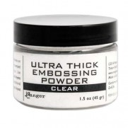 Ultra Thick Clear Embossing Powder transparente