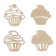 Découpes en Veneer Cupcakes