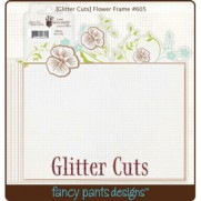 Glitter Cuts Cadre Fleurs