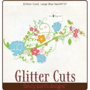 Glitter Cuts Swirl Bleu