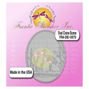Frantic Stamper Die Cadre oval Grue