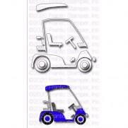 Frantic Stamper Die Cart de Golf