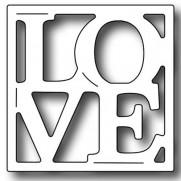 Frantic Stamper Dies Vignette Love