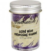 Stampendous Aged Embossing Enamel Wine