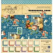 "Graphic 45 Pad 12"" X 12""  Children's Hour calendrier"