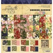 "Graphic 45 Pad 12"" X 12"" Floral Shoppe"
