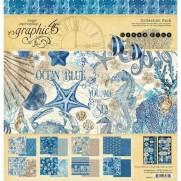 "Graphic 45 Pad 12"" X 12"" Océan bleu"