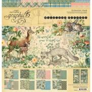 """Graphic 45 Pad 12"""" X 12"""" Amis de la Forêt"""