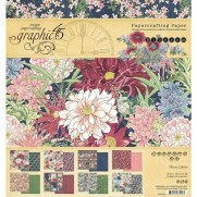 "Graphic 45 Pad 8"" X 8"" Fleurs"